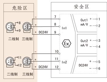 三相交流电路电压 电流的接线图
