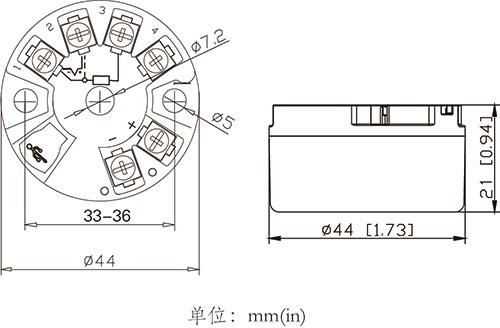 nhr-214隔离智能温度变送器(圆卡) - 虹润在线选型